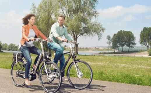 mensen op fietsen giant
