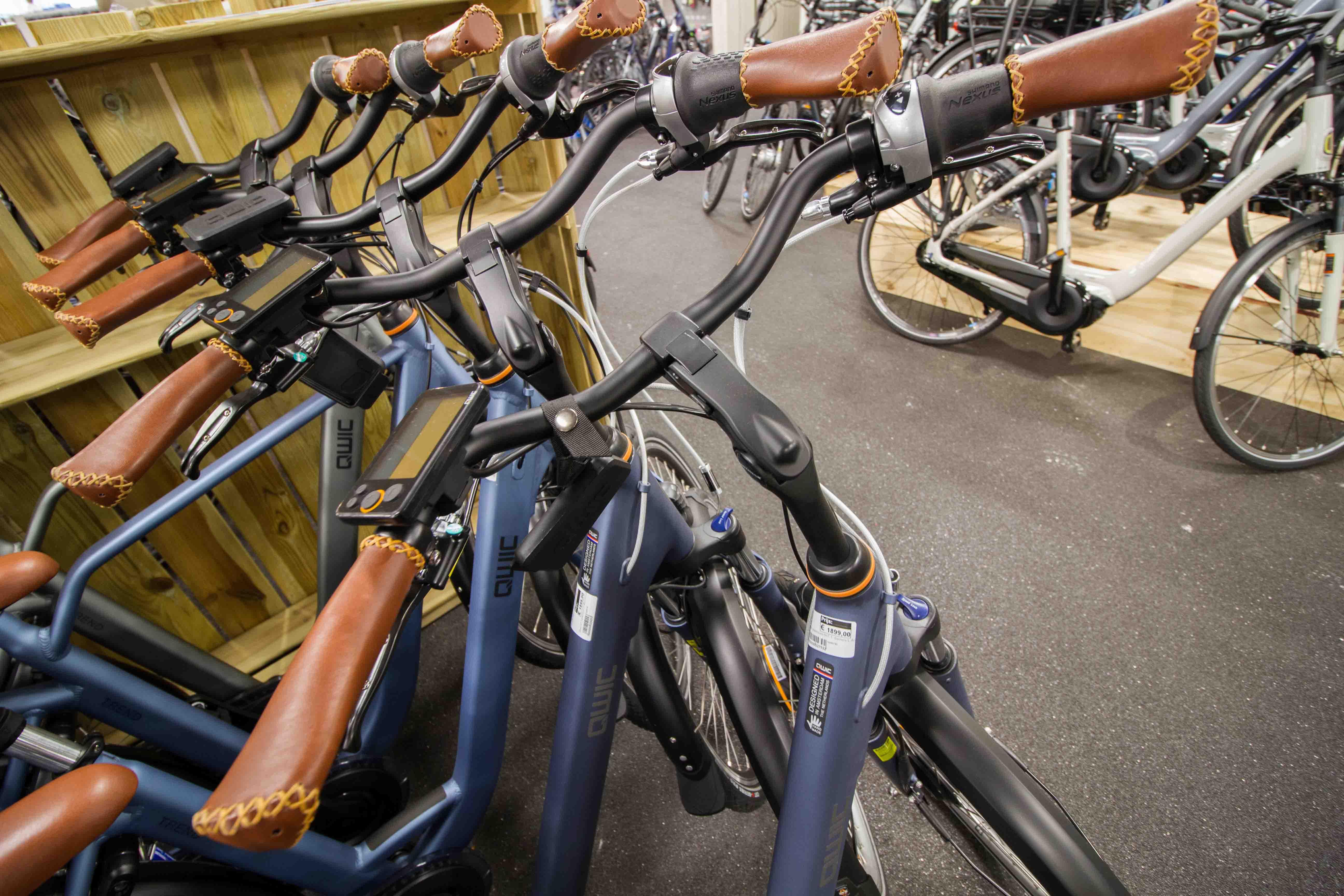qwic e-bikes op een rij