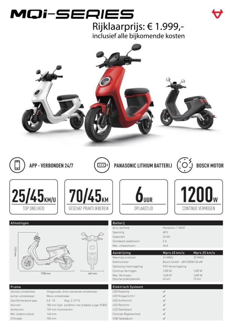 Elektr scooter MQi 25 rood